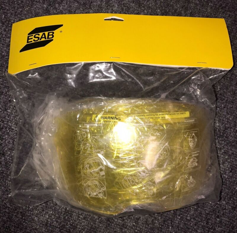 ESAB 0700000803 Amber Front Cover Lens For Sentinel A50 Helmet PACK OF 5