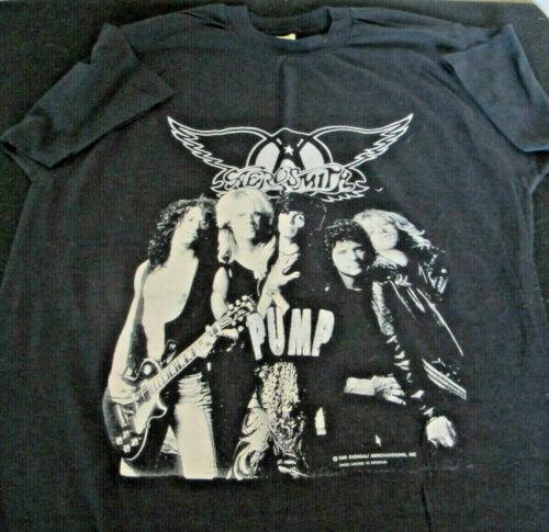 Authentic Vintage 1989 Aerosmith Europe Tour Black Tshirt XL