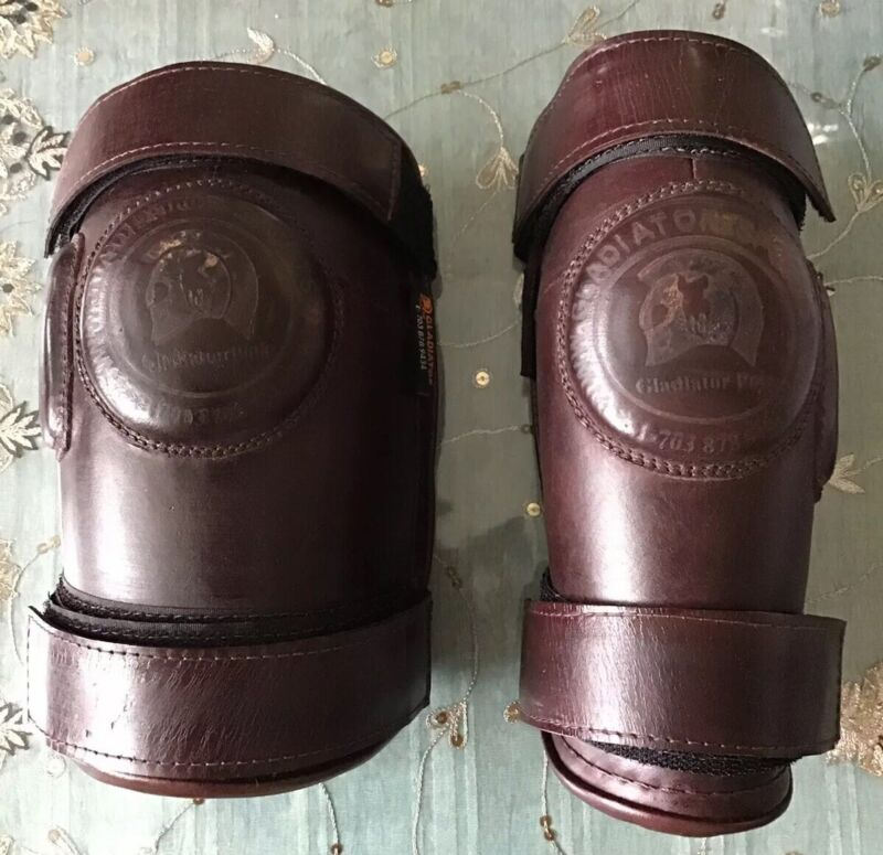 Economy Polo Knee Guards Leather