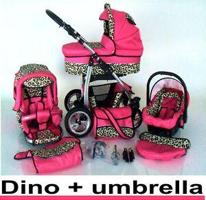 Pram-Pushchair-Dino-swivel-wheels-3in1-from-lux4kids-3in1-Travel-System