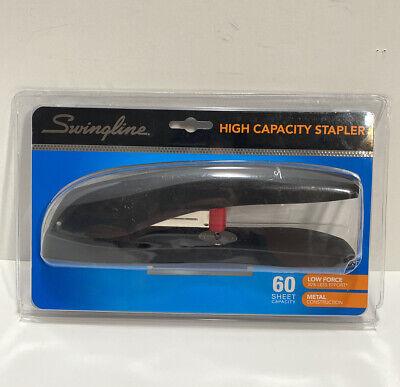 Swingline High-capacity Desk Stapler 60-sheet Capacity Black Swi77701