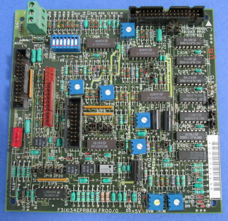 GENERAL ELECTRIC GE F31X134EPRBEG1 FR00/0 INTERFACE PCB CIRCUIT BOARD