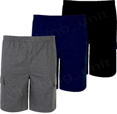 Cargo-jersey-shorts (Mens KAM BIG SIZE Summer Cargo Jersey Shorts Elasticated Waist 2XL-8XL 6 Pockets)