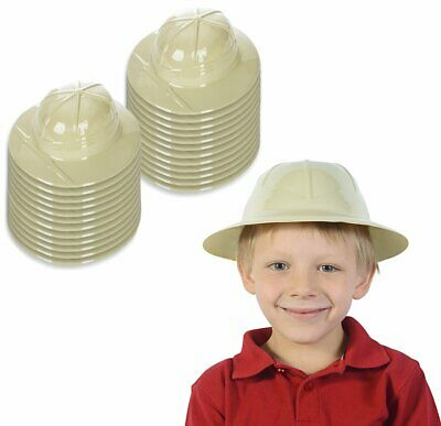 Plastic Pith Helmet (Kids Safari Pith Plastic Helmet Jungle Birthday Party Favor Hunting Costume)