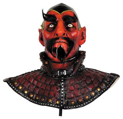 Morris Costumes Men's Warlock Devil Over The Head Deluxe Latex Mask. MR035009](Men Devil Costumes)