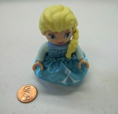NEW LEGO DUPLO ELSA PRINCESS from FROZEN Minifig Figure w/ REMOVABLE CLOTH SKIRT