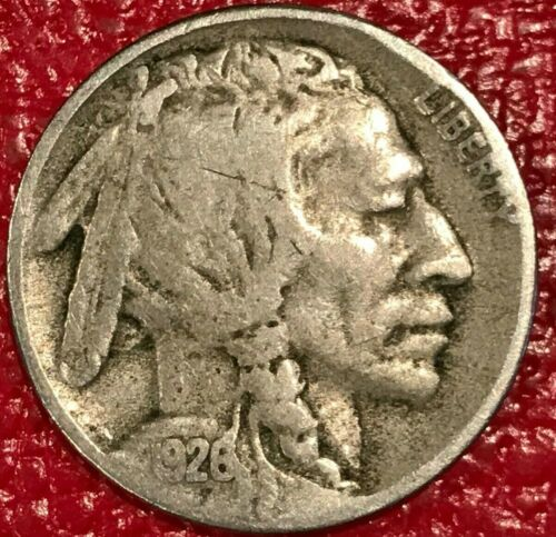 FINE VINTAGE 1926 S BUFFALO NICKEL COIN-OLD US COIN-JAN609