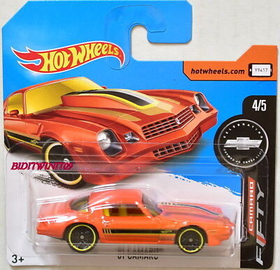 HOT WHEELS 2017 CAMARO FIFTY '81 CAMARO ORANGE SHORT CARD