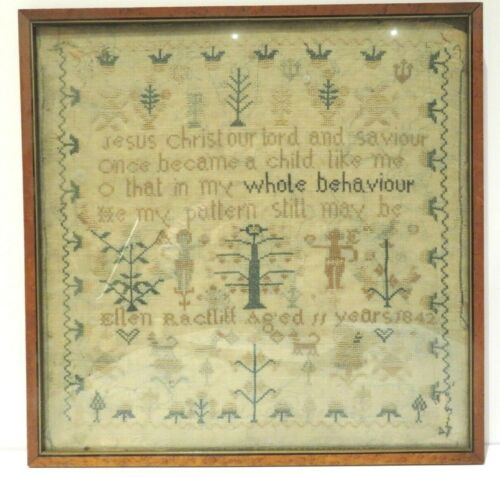 1842 Needlepoint Sampler from Our Family Collection