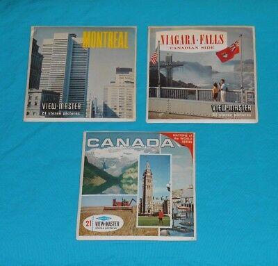 CANADA VIEW-MASTER REELS & MONTREAL & NIAGARA FALLS (Ontario) packet lot x3