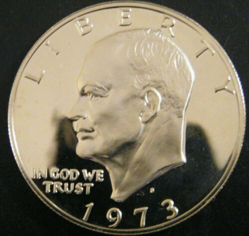 1973 S Eisenhower Dollar Gem Cameo Clad Proof Coin Ike From US Proof Mint Set