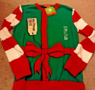 NWT Men's Medium Ugly CHRISTMAS Sweater Best Package Ever](Best Ugly Sweaters)
