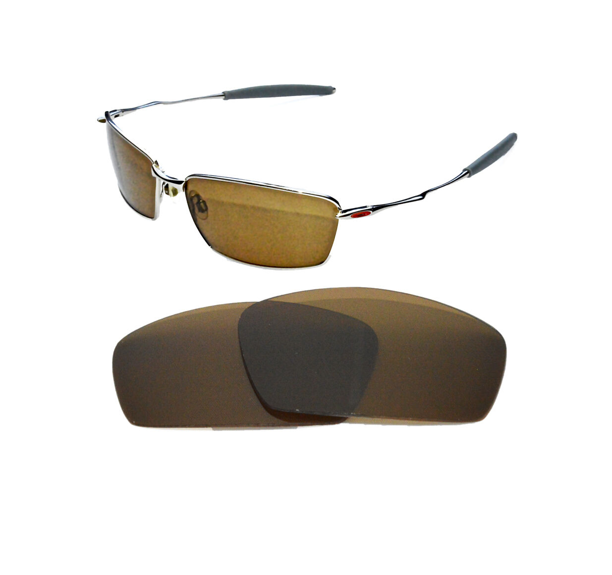 b859851866a3 NEW POLARIZED BRONZE REPLACEMENT LENS FOR OAKLEY SQUARE WHISKER SUNGLASSES