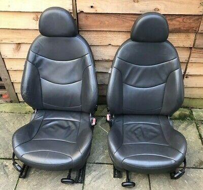 R52 Mini Cooper S Cabrio & One Cabrio Facelift Front & Rear Black Leather Seats
