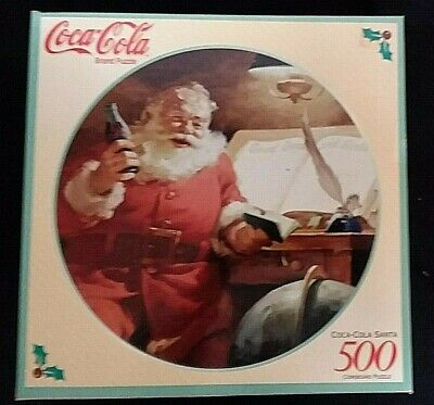 vtg 1998 COCA-COLA JIGSAW PUZZLE Factory Sealed SANTA CHRISTMAS ADVERTISING NEW