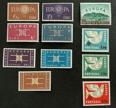RECENT LOT EUROPA CEPT CYPRUS PORTUGAL IRELAND VF MNH B.681.40 START 0.99$