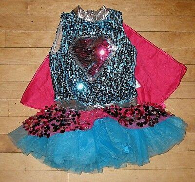 WEISSMAN SUPERGIRL SLEEVELESS DANCE LEOTARD DRESS MC MEDIUM CHILD - Supergirl Leotard