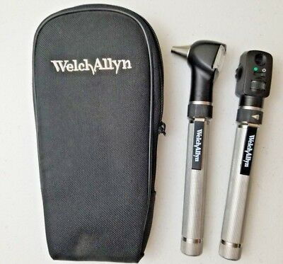 Welch Allyn 2.5v Pocketscope Otoscope Ophthalmoscope Diagnostic Set