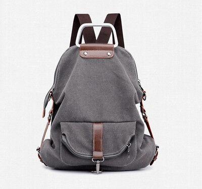 Multi-tasche Reißverschluss (Damen Rucksack Canvas Multifunktion Tasche Umhängetasche Schultertasche)