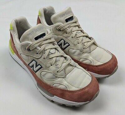 New Balance 992 Women's Off White Red Made in USA Running Shoes...