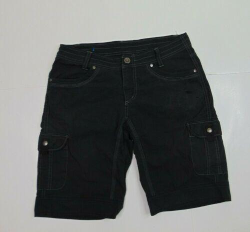 Kuhl Women 6 Hiking Shorts Quick Dry Lightweight Outdoor Cargo Pockets Black