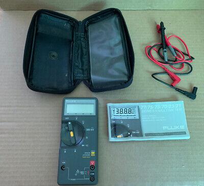 Fluke 73 Series Multimeter Zipper Case Lead Wires Manual