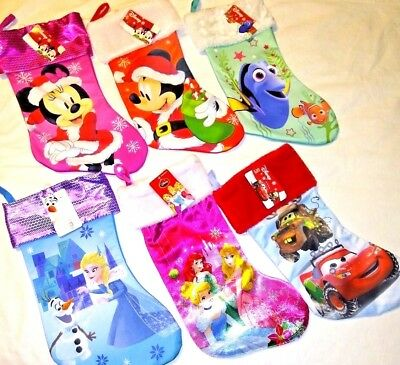 Disney Stocking 17 in Choice Micky Minnie Dory Frozen Cars Princesses - Disney Princesses In Frozen