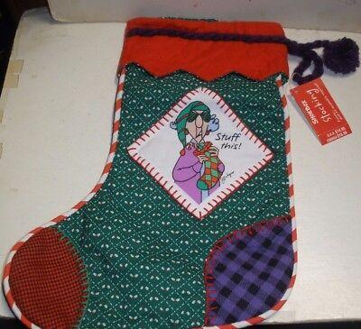"NEW Hallmark Shoebox Christmas Maxine Stocking Stuff This 14"" tall"