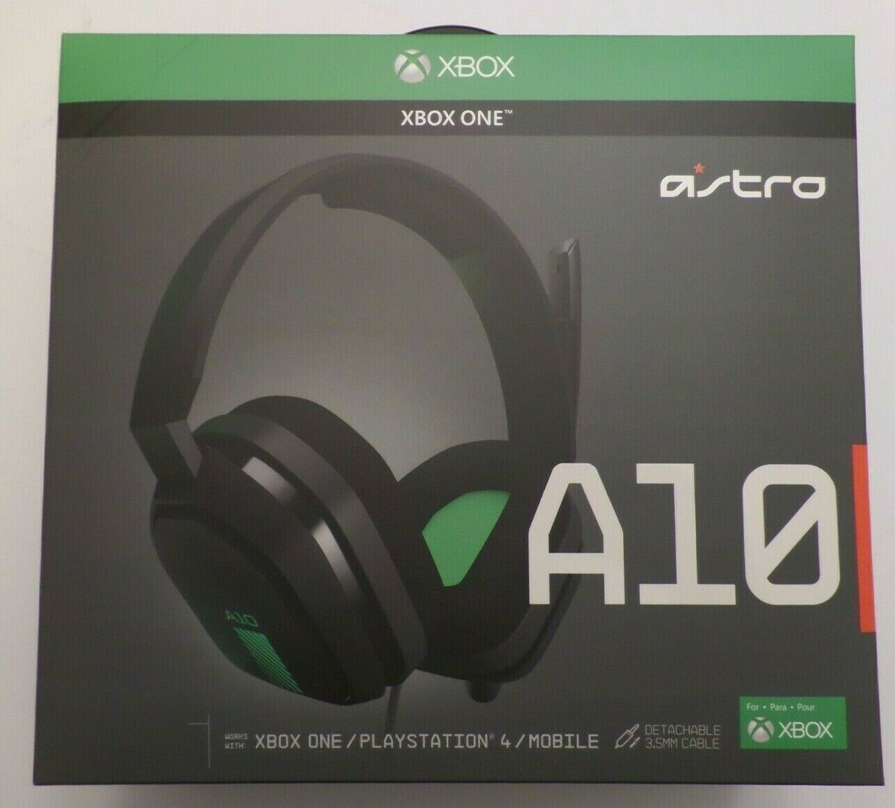 ASTRO Gaming A10 Gaming Headset - Green/Black - Xbox One