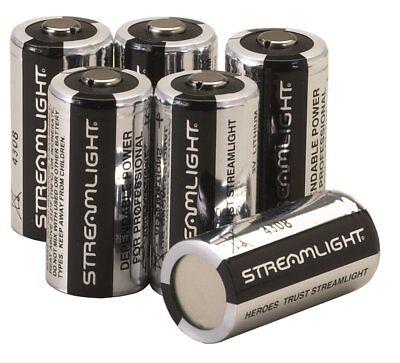 Streamlight CR123A 3V Lithium Batteries - 6 Pack