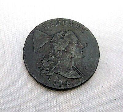 NICE 1794 US Flowing Hair Large Cent Variety S-41 MDS Lettered Edge