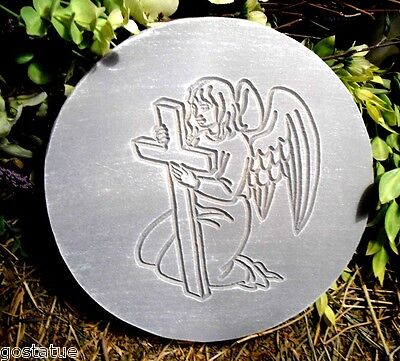 Angel with cross mold plaster concrete casting mould