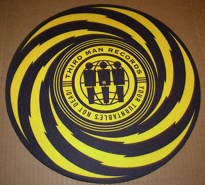 THIRD MAN RECORDS Lightning Bolt Slipmat for vinyl records Jack White Stripes