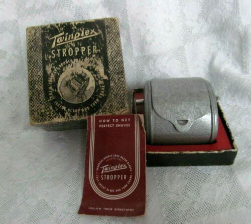 Vintage TWINPLEX Razor Blade Stropper w/ Original Box & Instruction Booklet
