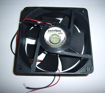 "The Install Bay 4.7"" Car Amplifier Cooling Fan for Amps Electronics 12V 12 Volt"