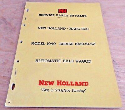 New Holland 1040 Balewagon Parts Catalog Manual Bale Wagon Nh