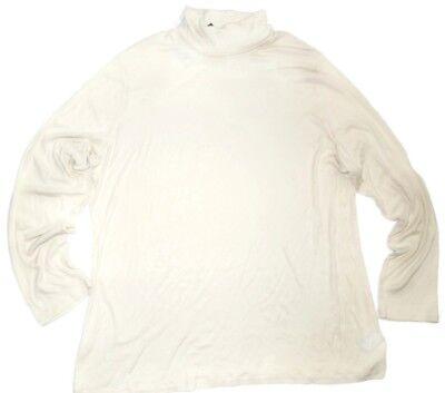 Ralph Lauren Ribbed Jersey (Lauren Ralph Lauren Antique Ivory Ribbed Jersey Turtleneck Top plus size 3X )