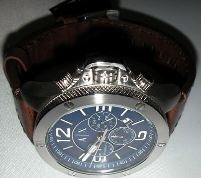 NEW Armani Exchange Men's AX1505 Brown Leather Watch