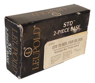 Leupold STD 2 Piece Base #47663 Reversible Front & Rear For Winchester Mod. 70 Leupold Std 2 Piece Base