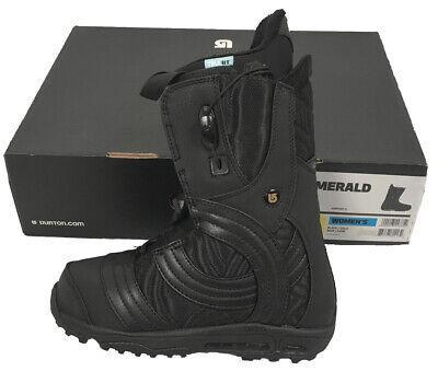 NEW! Burton Emerald Snowboard Boots!  *Black or White*  Cool Woven (Burton Emerald Snowboard Boots)