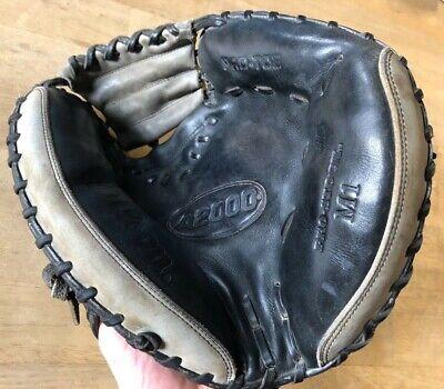 Wilson A2000 Pro Stock M1 Black Leather Baseball Catcher's Mitt - RHT 33.5