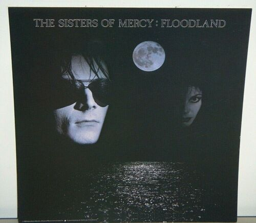1988 SISTERS OF MERCY FLOODLAND CARDBOARD PROMO POSTER FLAT