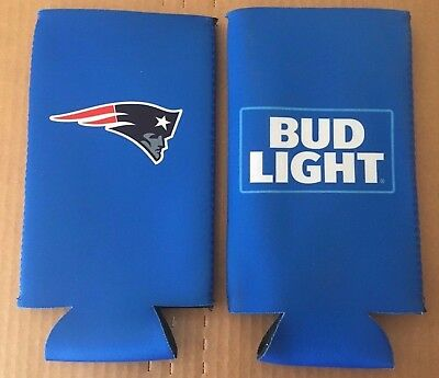 PATRIOTS NEW ENGLAND BUD LIGHT BEER BOTTLE COOZY NEW Tom Brady Rob Gronkowski