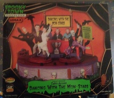 Lemax Spooky Town Dancing with the Mon-Stars Lighted Animated #94957 See - Dancing With Stars Halloween