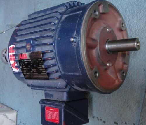 ABB Inverter Duty Induction Motor, 182THTS65581AN With BEI Encoder 10000 cts/rev