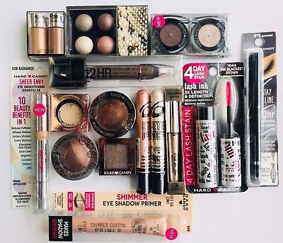 12 pc Hard Candy Makeup Lot   Eyes Only!  Brown Neutral Shades ONLY!
