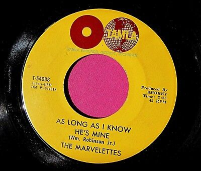 THE MARVELETTES - As Long as I Know He's Mine - clean 45 rpm - Tamla 54088