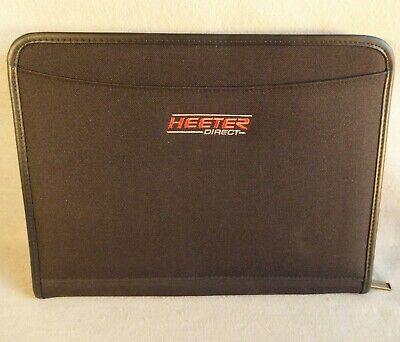 Leeds Zippered Binder Portfolio Padfolio Notebook Black W Logo Heeter Direct
