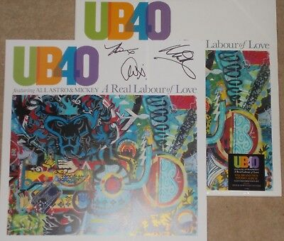"UB40 - A REAL LABOUR OF LOVE - DOUBLE COLOURED VINYL ALBUM & 12"" SIGNED ARTWORK"