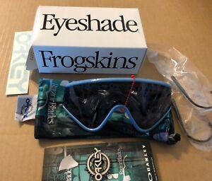 d4d5c0a2e2fbb New Oakley Eyeshade Sunglasses Ice Blue W  Grey Retro Heritage Collection  BNIB
